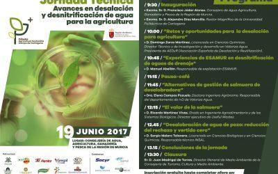 Jornada Técnica sobre Avances en desalación y desnitrificación de agua para la agricultura