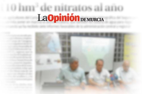 La planta de la UPCT evitaría que entraran al Mar Menor 110 hm3 de nitratos al año