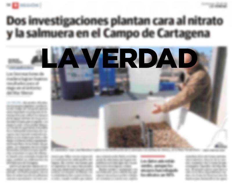 Dos investigaciones plantan cara al nitrato y la salmuera en el Campo de Cartagena