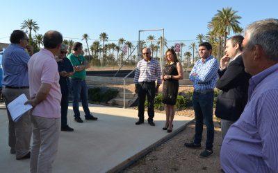 El Director de Medio Ambiente y Mar Menor y el Director General del Agua visitan las instalaciones de la Cátedra de Agricultura Sostenible