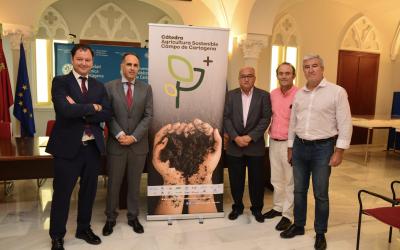 """Fundación """"La Caixa"""" se incorpora a la cátedra de Agricultura Sostenible de la UPCT"""