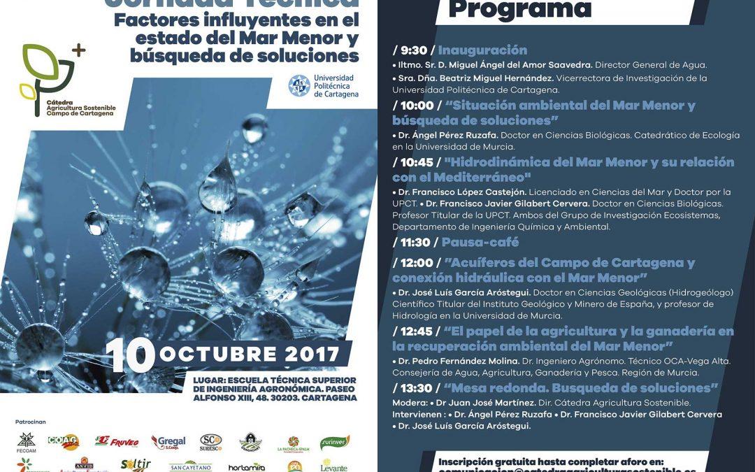 Factores influyentes en el estado del Mar Menor y búsqueda de soluciones