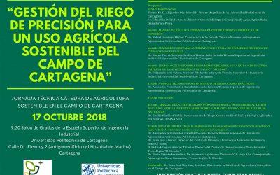 Jornada técnica sobre 'Gestión del riego de precisión para un uso agrícola del campo de Cartagena'