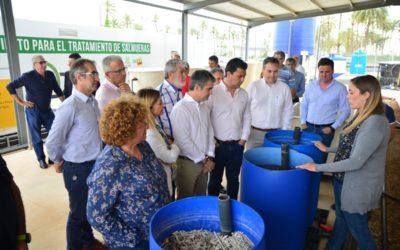 La Cátedra de Agricultura Sostenible estrena planta para concentrar salmuera con ayuda de una caldera de biomasa