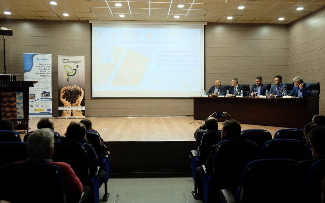 La jornada internacional de la Cátedra de Agricultura Sostenible muestra la eficiencia de los biorreactores de madera para desnitrificación