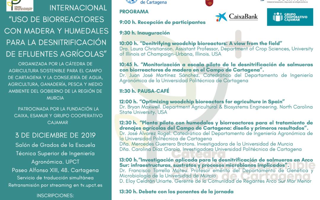 Jornada Internacional «Uso de biorreactores con madera y humedales para la desnitrificación de efluentes agrícolas»