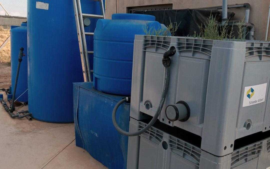 La Cátedra de Agricultura Sostenible y Golftat prueban un sistema para desnitrificación de salmueras altamente concentradas